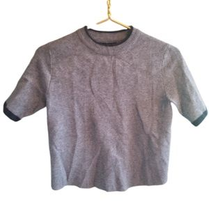 || ZARA || Small Knit Grey Crewneck Sweater